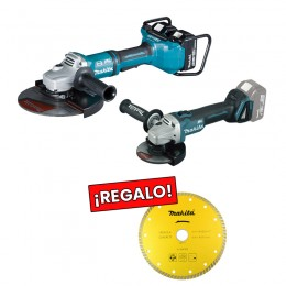 Combo Amoladora Makita 230mm / Miniamoladora Makita 125mm